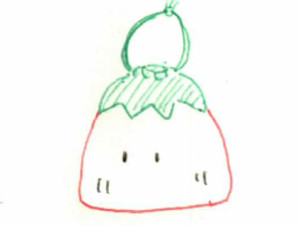 巾着トマトマンイラスト