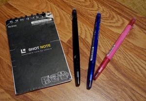 ショットノートとフリクションペン