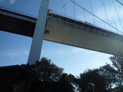 橋の連結部の裏