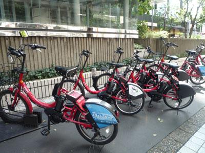 赤坂アークヒルズのサイクルポート