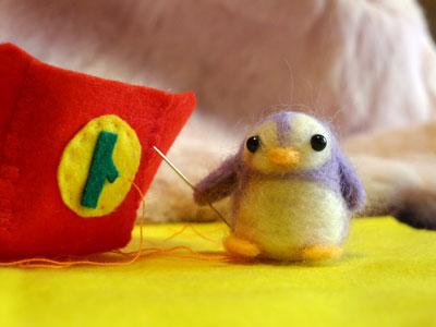 針刺しペンギン