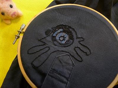 完成したナスカの地上絵刺繍