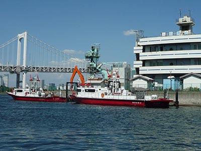 高輪消防の船
