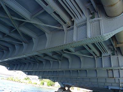 永代橋の裏