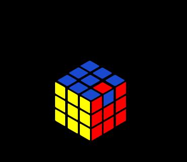 分解したキューブを6面揃えたところ