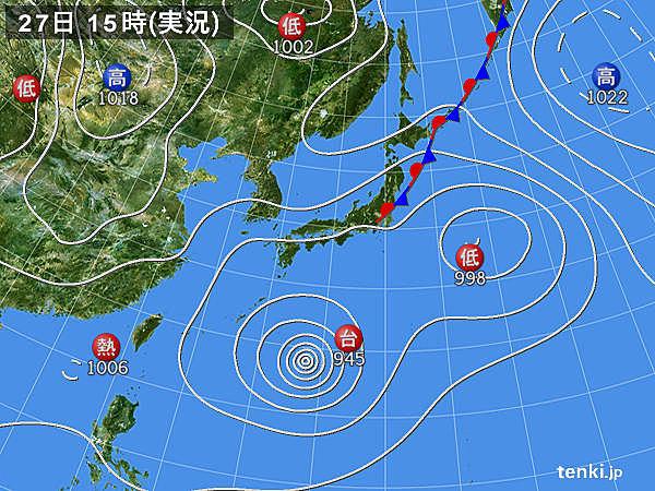 レース前日の天気図