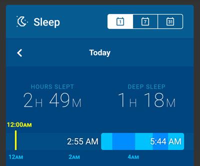 ぺベルで睡眠測定