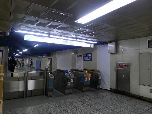 千代田線日比谷駅改札