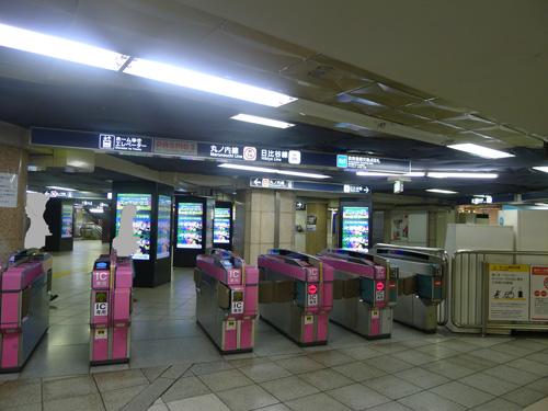 丸ノ内線日比谷線銀座駅