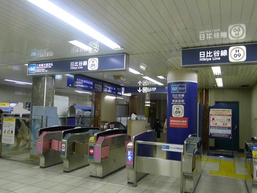 日比谷線東銀座駅