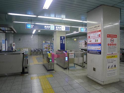 東西線、銀座線日本橋駅