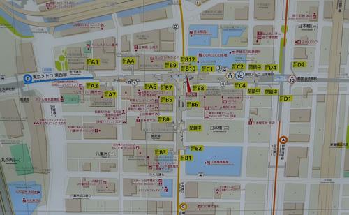 日本橋駅構内図