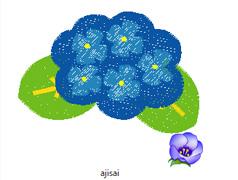 アジサイ刺繍データイメージ
