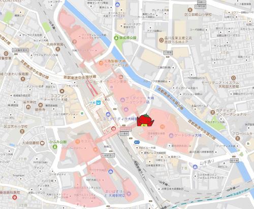 現在地の地図
