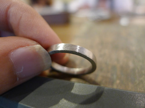 指輪になってきた
