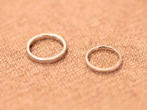 完成した手作り指輪