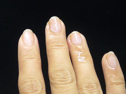 人差し指のオフ完了