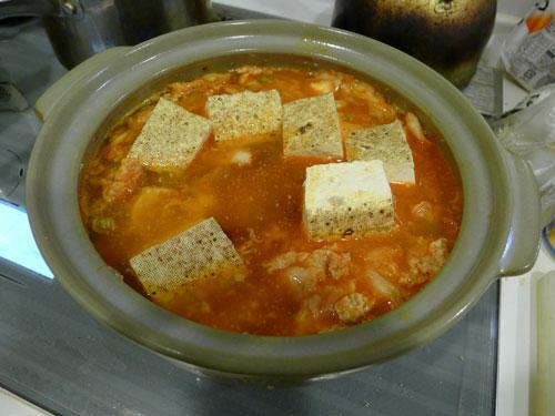 スープと豆腐入り