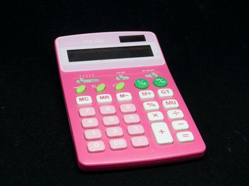 ピンクの電卓