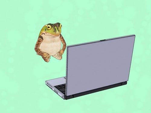 ケロタンがパソコンを直す