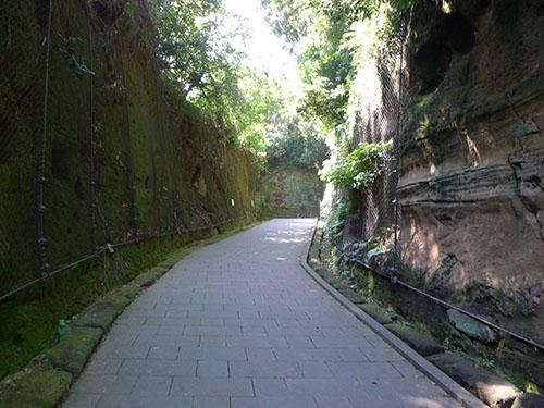 猿島 遺構の入り口付近