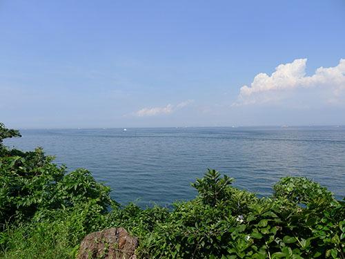 猿島 展望台からの眺め