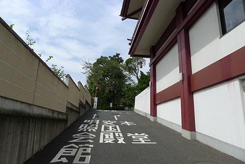 増上寺会館脇の道