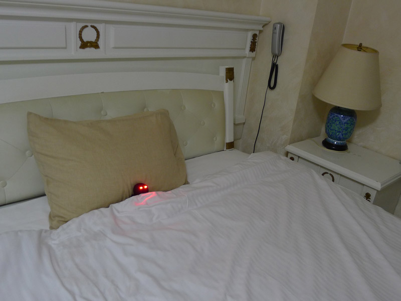 ベッドに入ったブラックテルテル