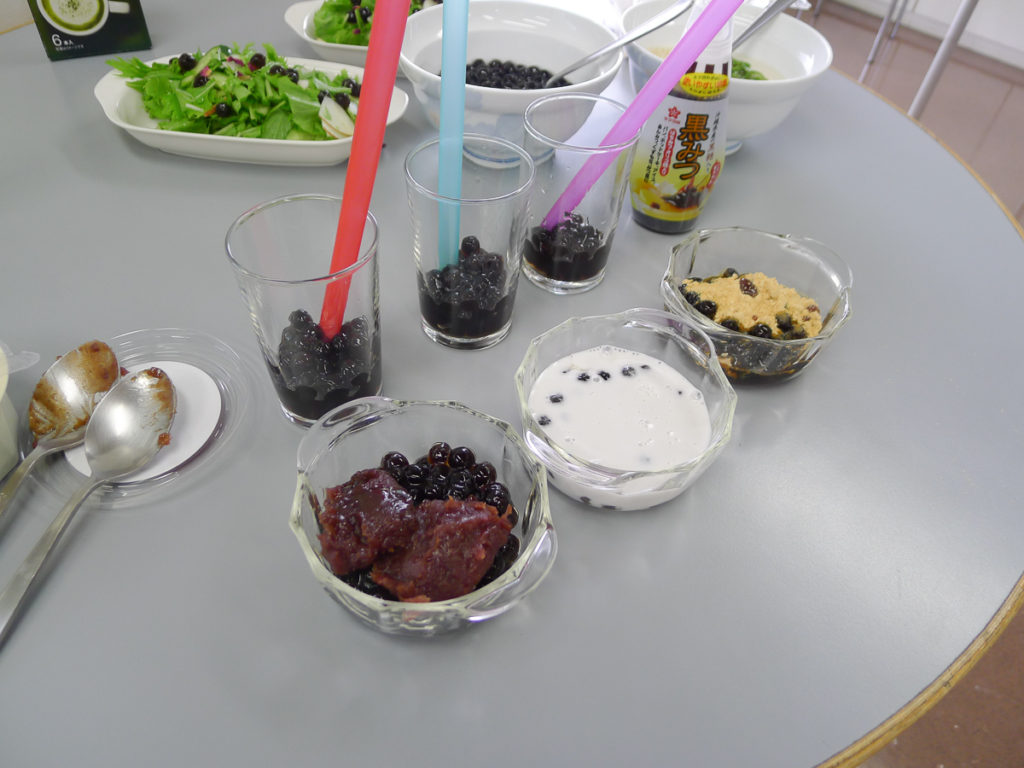 キナコ黒蜜、あんこ、ココナツミルクなど