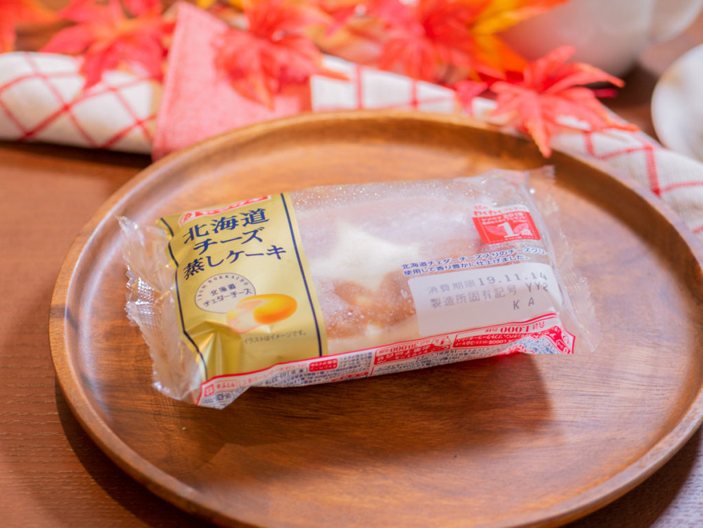 凍らせた北海道チーズケーキ蒸しパン