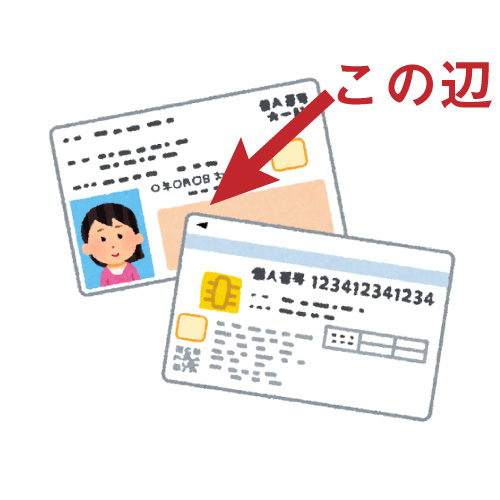 マイナンバーカードに旧姓が入る場所