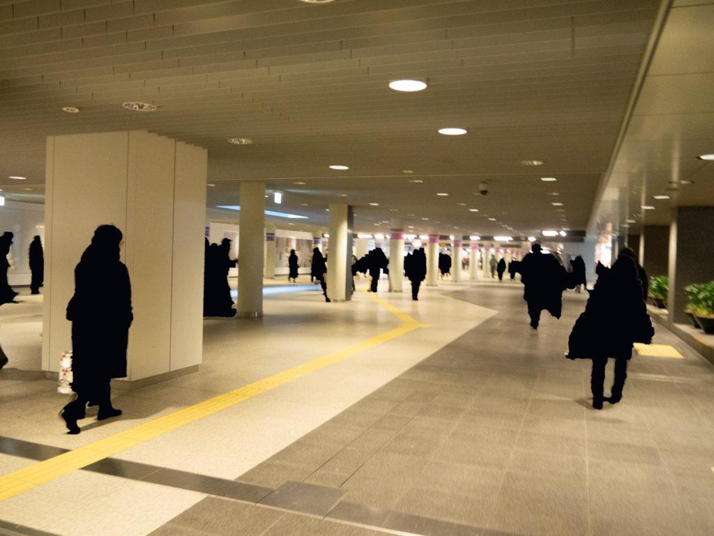 札幌駅前通地下歩道空間の写真