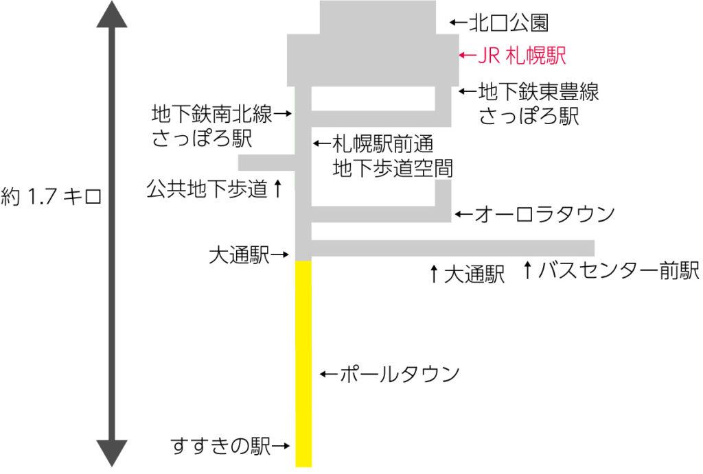 札幌地下道全体図