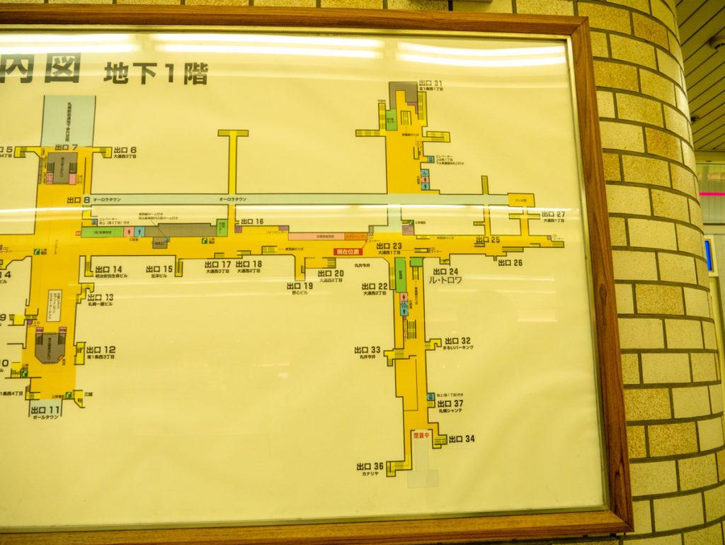 地下道の地図