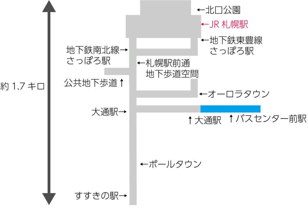 札幌地下道の地図