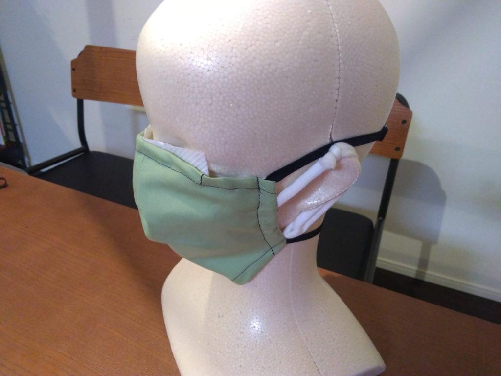 香港マスクを装着したところ