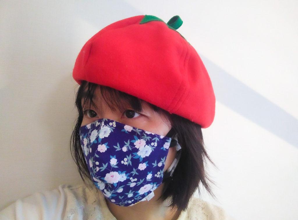 香港マスクを着用した様子