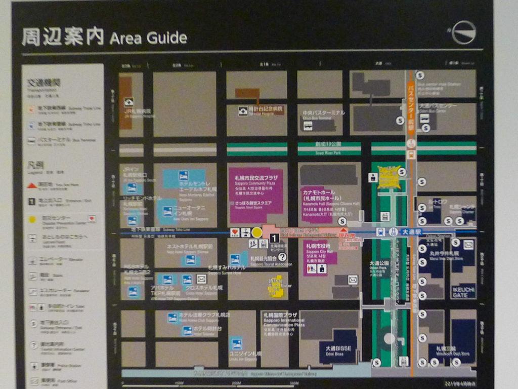 最新地下道の地図