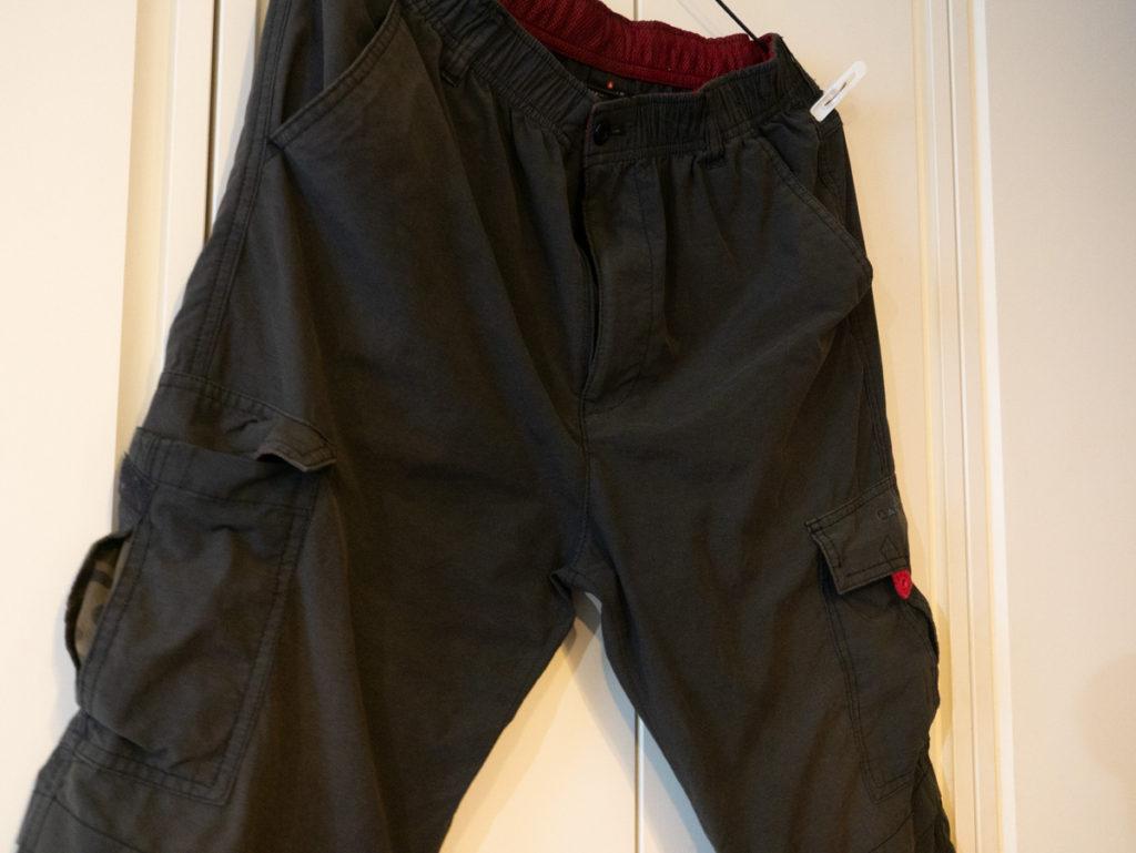 キレイになった黒いズボン
