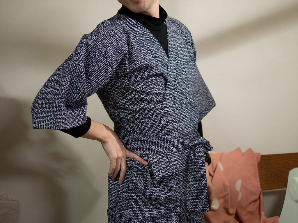 浴衣をリメイクしたパジャマ