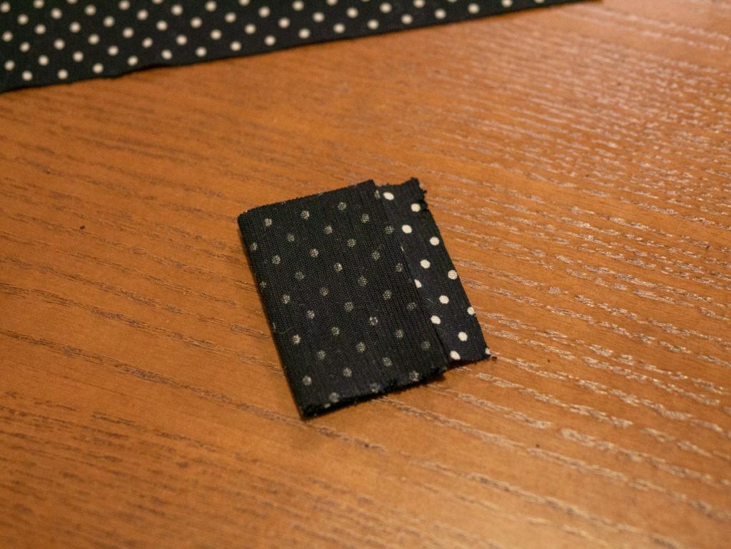布を四つ折りにしました